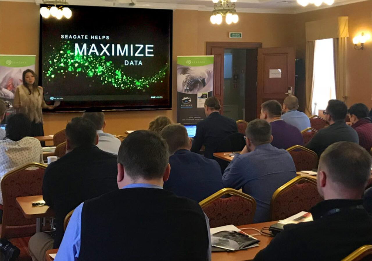 Uczestnicy szkolenia podczas prezentacji Seagate